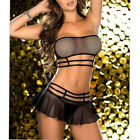 Внешний вид - Women Sexy Solid Lace Sleepwear Lingerie Temptation Bra Underwear Nightwear Set