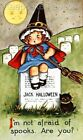 Halloween Girl Not Afraid Of Spooks Fabric Block Multi Szs FrEE ShiP WoRld WiDE