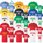 WORLD CUP TEAM TSHIRT JERSEY ALL TEAMS RUSSIA 2018 FOOTBALL CUP SOCCER WORLD CUP image