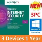 NEW Kaspersky Internet Total Security 2018 3 PC / Devices Windows Mac Android