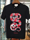 2018 NEW 100% Authentic Gucci Classic T-Shirt black The snake