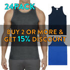 24 PACK AAA 1307 MENS PLAIN TANK TOP SLEEVELESS MUSCLE TEE T SHIRT GYM FITNESS