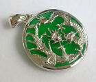 Natural 18K Gold Plated Jade Dragon Pendant Necklace For Women Jewelry Lucky New
