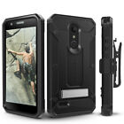 LG K30 Case, Evocel Full Body Armor Case w/ Rugged Holster & Metal Kickstand