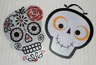 DAY OF THE DEAD SIGNS, Sugar Skull Roses Smiling Face, Halloween DIY Wreath