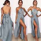 vestidos de xv 2013 - Sexy High Split Halter Vintage Party Elegant Vestidos Beach Maxi  Women Dress