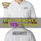 MENS SECURITY POLO T SHIRT GUARD SHIRTS TEE LAW ENFORCEMENT SAFETY WORK UNIFORM