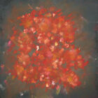 love, passion red fire large square abstract print