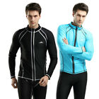 SBART Rash guard Men TopS Long Sleeve Surfing Jacket Zip UV