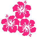 Hibiscus Flower Bouquet Vinyl Decal Sticker Home Cup Wall Car Decor Choice