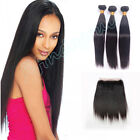 Peruvian 360 Lace Frontal Closure w/8A Straight Human Hair Weft 3 Bundles/300G