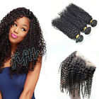 Peruvian 8A Kinky Curly Human Hair 300g/3 Bundles with 360 Lace Frontal Closure