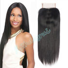 "4""x4"" Lace Frontal Brazilian 8A Straight Human Virgin Hair Lace Closure"