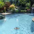 Solar Powered Fountain Garden Pond Submersible Water Pump Features 5 Types