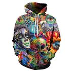 New Men Women Fashion 3D Hoodie Funny Colorful Psychedelic Cool Gaming Eye Trip