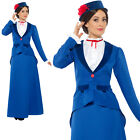 Victorian Nanny Costume Mary Poppins Adult Womens Ladies Fancy Dress Outfit