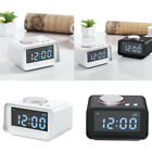 Electronic Digital Alarm Clock Radio FM Phone Charging Dimmer Snooze Alarm Clock