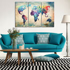 Wall Art Canvas Print Painting Home Office Room Hallway Decor No Frame Map
