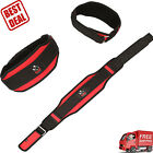 Weight Lifting Belt Red Back Support Gym Fitness Bodybuilding Training Workout