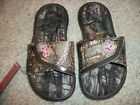 UNDER ARMOUR New NWT Girls Youth Toddler Slide Sandals Flip Flops Camo Realtree