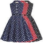 GK Girls Princess Retro Vintage Sleeveless Polka Dots Cute M