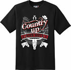 Country Up Down South Cowboy Cow Girl Gun Horse T Shirt  New Graphic Tee