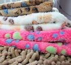 Dog Cat Pet Soft Coral Fleece Warm Thermal Blanket Paw Print Mat Air Condition