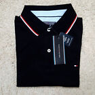 Tommy Hilfiger Men's Twin tipped Polo T-shirts Black Grey Blue White Navy
