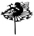 Fairy Dandelion Flower Vinyl Decal Sticker Home Wall Cup Decor Choose Size Color