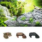 3-in-1 Reptile Basking Platform Turtle Corner Ramp Reptile Habitat Ladder Decor