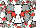 Kaws x Skulls Original Street Graffiti Hip Hop Poster or Art Print