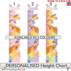Personalised Unicorn Height Chart Wall Sticker Kids Girl Childrens Decal Bedroom