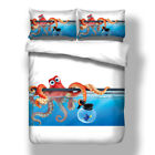 3D Fish Tank Octopus Print Duvet Cover Kids Bedding Set Quilt Cover Pillow Case