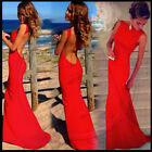 UK Women Summer Cocktail Formal Party Ball Gown Prom Long Maxi Beach Dress 8-20