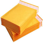Padded Bubble Postal Bags Envelopes Mail Bags Yellow Brown Sizes 110x160mm
