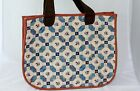 Applique Quilted Handbag Women Purse Tote Shoulder Bag Heart Fully Lined Heart