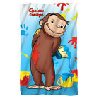 Curious George Making Mess PAINT Lightweight Polar Fleece Throw Blanket image
