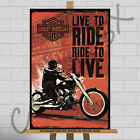 Harley Davidson Motorcycles Framed Canvas Print Motorcycle Vrod Sportster A1 A2 £15.95 GBP on eBay