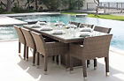 New!! Outdoor Wicker Dining Table Chairs Rattan Furniture Set Pool Patio Garden