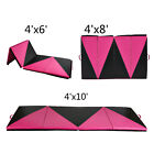 6'/8'/10' Gymnastics Mat Folding Panel Thick Gym Fitness Exercise Pink/Black New