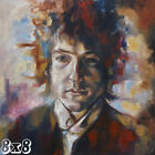 Bob Dylan Oil Art Canvas Reprint Painting Poster or Art Print