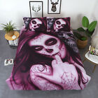 3pcs 3D Skull Four Bedding Set Duvet Cover Pillowcase Bed Sheet image