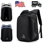 Anti theft New Mens Laptop Notebook Backpack+USB Charging Business School Bag