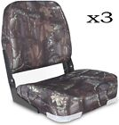 Marine Boat Seat 3 Pack Low Back Padded Bass Folding Fishing Chair Bucket Seats