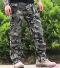 Men's Outdoor Casual Cotton Pocket Breathable Jeans Military Camouflage Pants