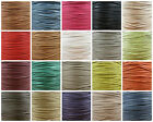 Flat 2mm 3mm 4mm 7mm Waxed Cotton Cord *23 Colours* Jewellery Making Stringing