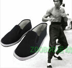 Chinese Martial Art Kung Fu Ninja Shoes Slip On RUBBER Sole Canvas Slippers