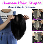 New Mono Base Of 5.5''*6.2'' Womens Mens Human Hair Topper Toupee Hairpieces