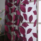 2pcs Leaf Pattern Tulle Door Window Curtain Drape Panel Sheer Valances Decor