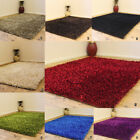 MODERN 3CM THICK SMALL SHAGGY SPARKLE SHINY MULTI COLOR SHIMMER CLEARANCE RUG